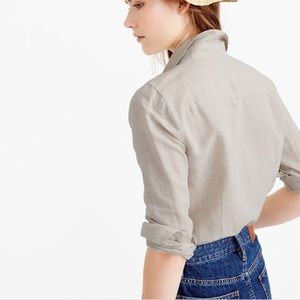J. Crew F0198 Tall Perfect Shirt in Perfect Linen